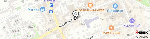 Приоритет КМВ на карте Ессентуков