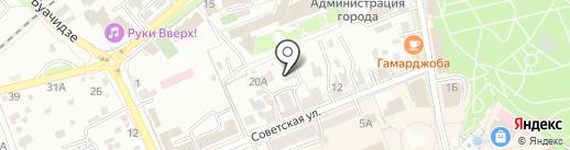 Нотариус Мандрыко А.В. на карте Ессентуков
