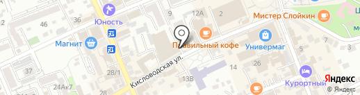 Адвокатский кабинет Гриневской Л.Н. на карте Ессентуков
