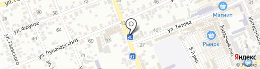 Эльбрус на карте Ессентуков