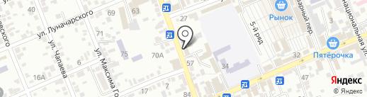 Теплоград на карте Ессентуков