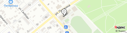 Центральный стадион на карте Ессентуков
