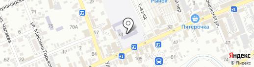 Средняя общеобразовательная школа №3 на карте Ессентуков