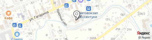 У реки на карте Ессентуков