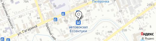 Автовокзал на карте Ессентуков