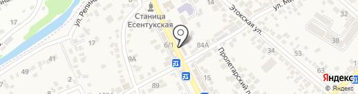 Парфенон-ГИРО на карте Ессентукской