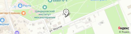Легенда на карте Ессентуков