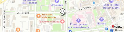 Объединение котельных курорта на карте Ессентуков