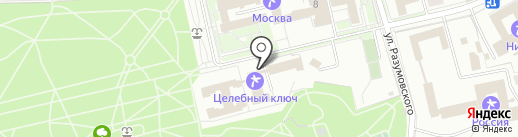 Целебный ключ на карте Ессентуков