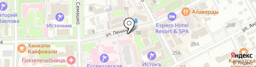 Алир на карте Ессентуков