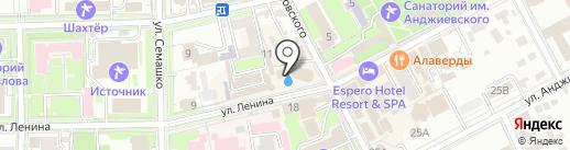 Минеральный источник №4/33 на карте Ессентуков