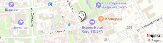 Источник на карте Ессентуков