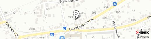 Левади на карте Ессентуков