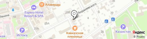 Курортный на карте Ессентуков