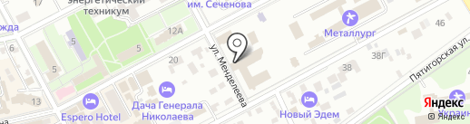 Металлург на карте Ессентуков