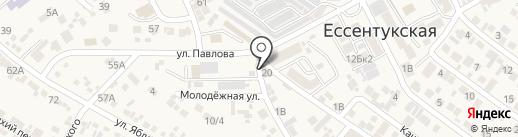 Фонд социального страхования РФ на карте Ессентукской