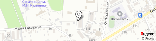 Октябрьская площадь на карте Ессентуков