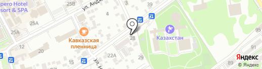 Архидея на карте Ессентуков