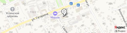 Почтовое отделение на карте Ессентукской