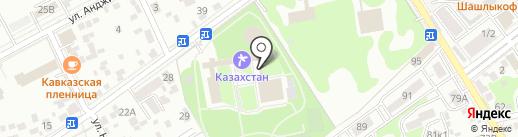 Казахстан на карте Ессентуков