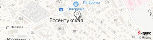 Павлова 10а на карте Ессентукской