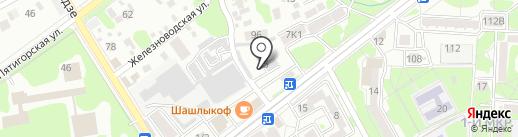 Автостоянка на карте Ессентуков