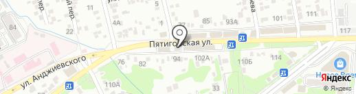 Окна-Юг на карте Ессентуков