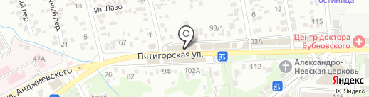 Синий Гусь на карте Ессентуков