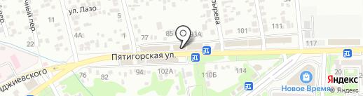 Эпицентр звука на карте Ессентуков