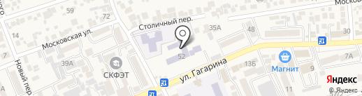Вечерняя общеобразовательная школа на карте Ессентукской