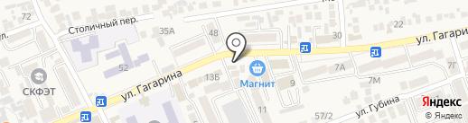 Апрель на карте Ессентукской