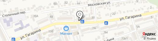 Сильва на карте Ессентукской