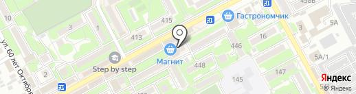 Магнит на карте Ессентуков