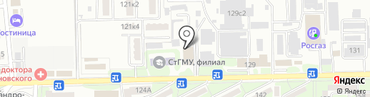 ГЕРМЕС КМВ на карте Ессентуков