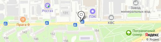 Магазин автозапчастей для ГАЗ на карте Ессентуков