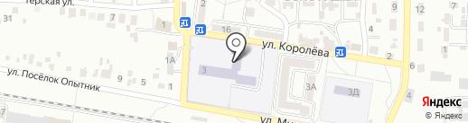 Солнечная на карте Ессентуков