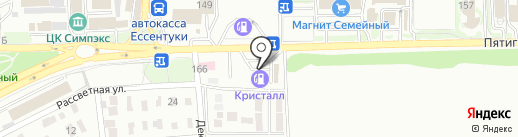 АЗС Кристалл на карте Ессентуков