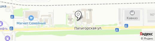 Глория на карте Ессентуков