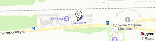 АЗС Газпром на карте Ессентуков