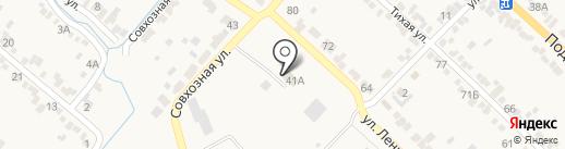 Винсадское на карте Винсад