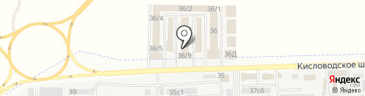 Оши-менеджмент на карте Пятигорска