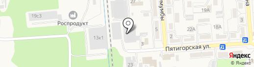 Первый термометровый завод на карте Лермонтова