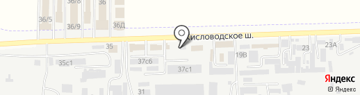 Немецкий на карте Пятигорска