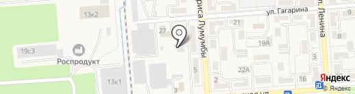 Остродент на карте Лермонтова