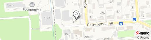 Отдел МВД России по г. Лермонтову на карте Лермонтова