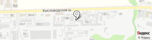ЮГ БЕЗОПАСНОСТЬ на карте Пятигорска