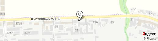 ГриГ на карте Пятигорска