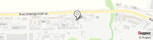 Танис на карте Пятигорска