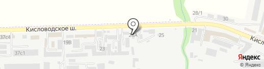 Ставмет, ЗАО на карте Пятигорска