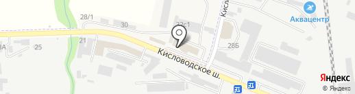 Андреевский на карте Пятигорска